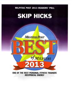 Skip Hicks, Personal Trainer - Voted One of The Best
