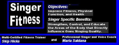 Singer Fitness Your Entire Body is Your Musical Instrument. Treat it well and train it properly!